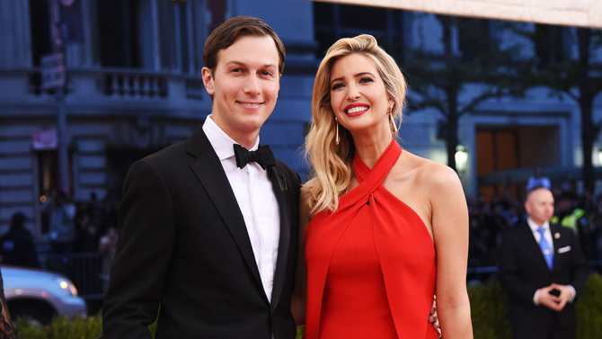 Mandatory Credit: Photo by Stephen Lovekin/REX/Shutterstock (5669122sq) Jared Kushner and Ivanka Trump The Metropolitan Museum of Art's COSTUME INSTITUTE Benefit Celebrating the Opening of Manus x Machina: Fashion in an Age of Technology, Arrivals, The Metropolitan Museum of Art, NYC, New York, America - 02 May 2016
