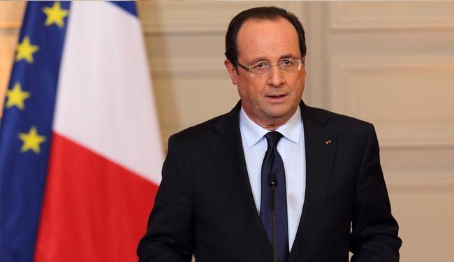 France President Hollande Backs Political Transition in Syria