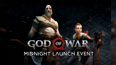 Photo of God of War Midnight Launch